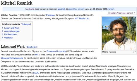 CC BY SA Wikipedia DE / https://de.wikipedia.org/wiki/Mitchel_Resnick