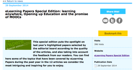 (c) Elearningpapers - http://www.openeducationeuropa.eu/en/news/elearning-papers-special-edition-learning-anywhere-opening-education-and-promise-moocs