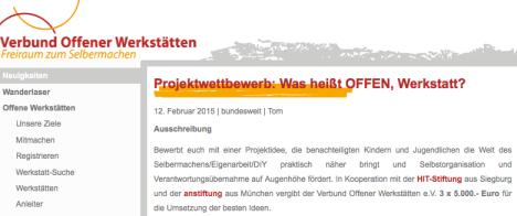 (c) Verbund offener Werkstätten, URL: http://www.offene-werkstaetten.org/post/projektwettbewerb-was-heisst-offen-werkstatt