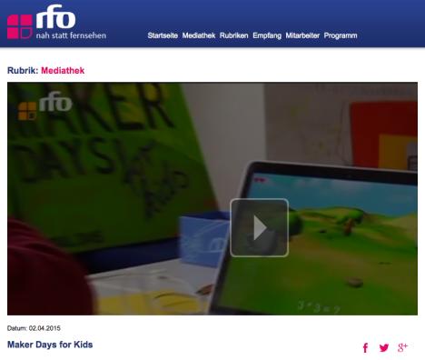 (C) RFO - http://www.rfo.de/mediathek/43677/Maker_Days_for_Kids.html