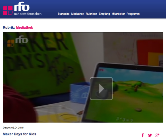 (C) RFO - http://www.rfo.de/mediathek/43677/Maker_Days_for_Kids.html