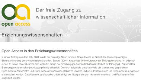 CC BY Sandra Schön / Open-Access.net - URL: http://open-access.net/informationen-fuer-verschiedene-faecher/erziehungswissenschaften/