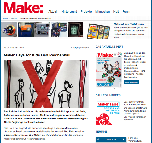 (c) MAKE Magazin - http://www.heise.de/make/meldung/Maker-Days-for-Kids-Bad-Reichenhall-2626741.html