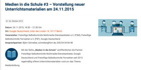 CC BY SA Medien in die Schule - URL http://www.medien-in-die-schule.de/medien-in-die-schule-3-vorstellung-neuer-unterrichtsmaterialien-am-24-11-2015/