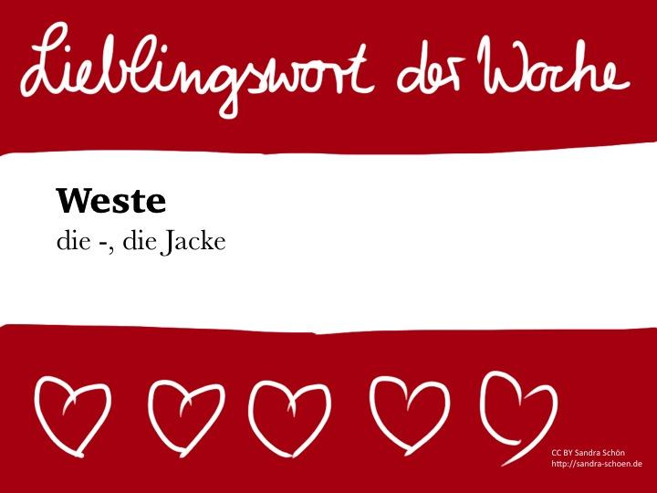 outlet store b84e3 a6efa Mein österreichisches Lieblingswort der Woche: Weste ...