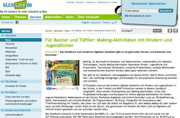 (c) Klicksafe.de - URL: http://www.klicksafe.de/service/aktuelles/news/detail/fuer-bastler-und-tueftler-making-aktivitaeten-mit-kindern-und-jugendlichen/