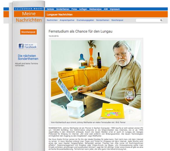 (c) Salzburger Woche - URL: http://meine-nachrichten.at/index.php/nachrichtenleser-lungau/fernstudium-als-chance-fuer-den-lungau.html
